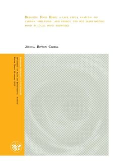 Bringing Food Home : a case study analysis of carbon emissions and