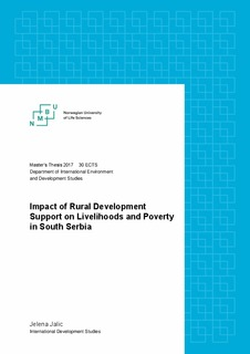 Impact of rural development support on livelihoods and