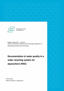 Documentation of water quality in a water recycling system