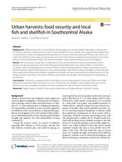 Urban harvests: Food security and local fish and shellfish