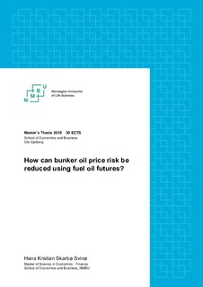 How can bunker oil price risk be reduced using fuel oil futures?
